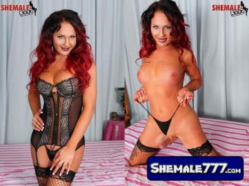 SheMale.Xxx: Safari Star - Sexy Red Haired Safari Star Jacks Off (HD 720p, 355 MB)