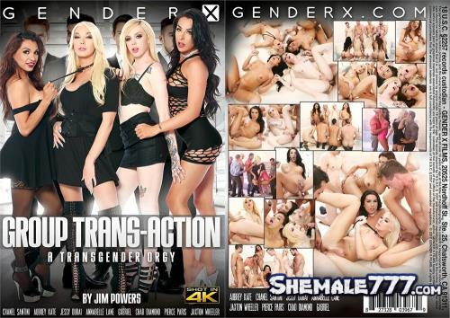 Jim Powers, GenderX: Chanel Santini, Jessy Dubai, Annabelle Lane, Aubrey Kate - Group Trans-Action (HD 720p)