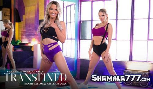 Transfixed, AdultTime: Kenzie Taylor, Kayleigh Coxx - Workout Girls (FullHD 1080p)