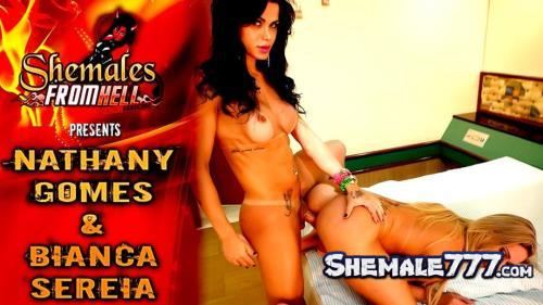 Shemales-From-Hell: Nathany Gomes, Bianca Sereia - Transsexual Anal Sex (HD 720p)