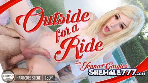 GroobyVR: Jenna Gargles - Outside For A Ride! (HD 960p)
