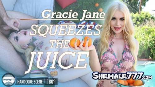 GroobyVR: Gracie Jane - Gracie Squeezes The Juice! (UltraHD 2K 1920p)