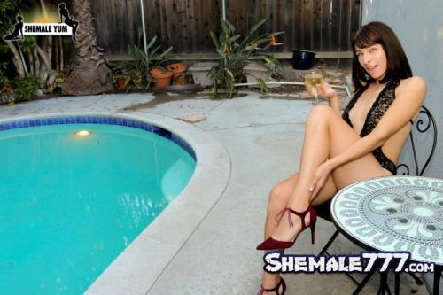 ShemaleYum: Alexa Scout - Alexa Scout And Rob's Poolside Fuck! (SD 480p)